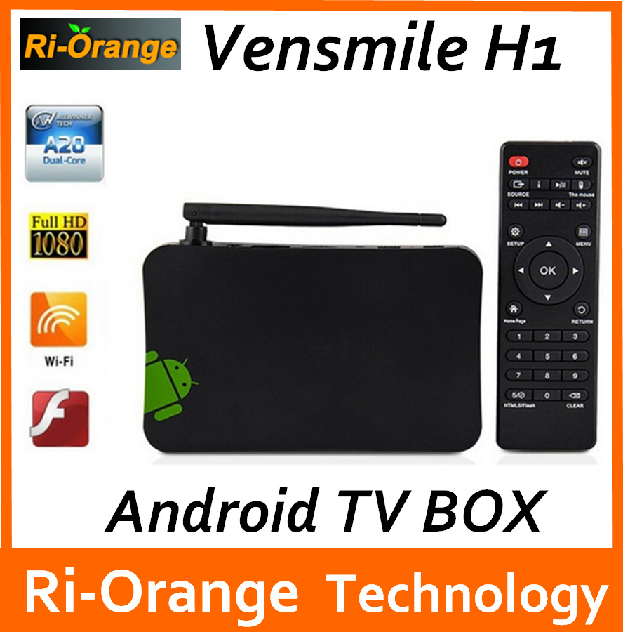 Vensmile cheapest ! Dual core android tv box 512M+4GB Smart Android 4.2 Tv box with fuction WIFI display DLNA Miracast(China (Mainland))