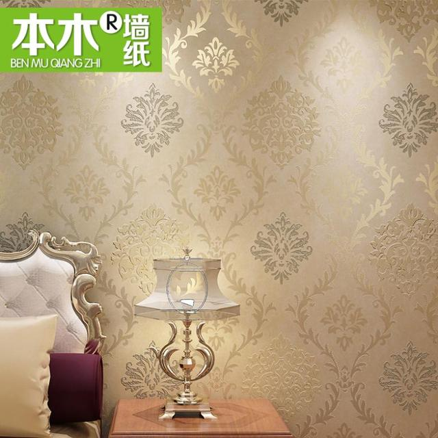 2013 European style non-woven wallpaper TV backdrop bedroom, living room sofa environmental