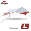 Naturehike Large Camping Tent Awning Beach Playing Games Fishing Hiking Outdoor 5 Person Tent Grey Orange