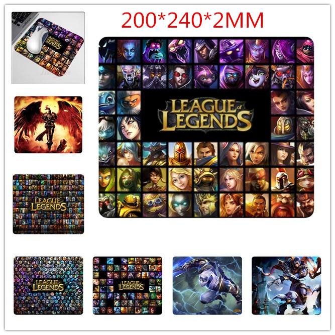 LOL League of Legends Gamer Mouse Pad 3D Computer Gaming Mat to Mouse Soft Mousepad Speed Version For CS GO Dota 2 Free Shipping(China (Mainland))
