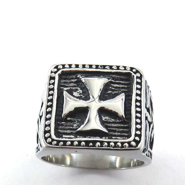 ! 316L stainless steel cross ring fashion jewelry motor vehicles PM001 - Linda HDH store