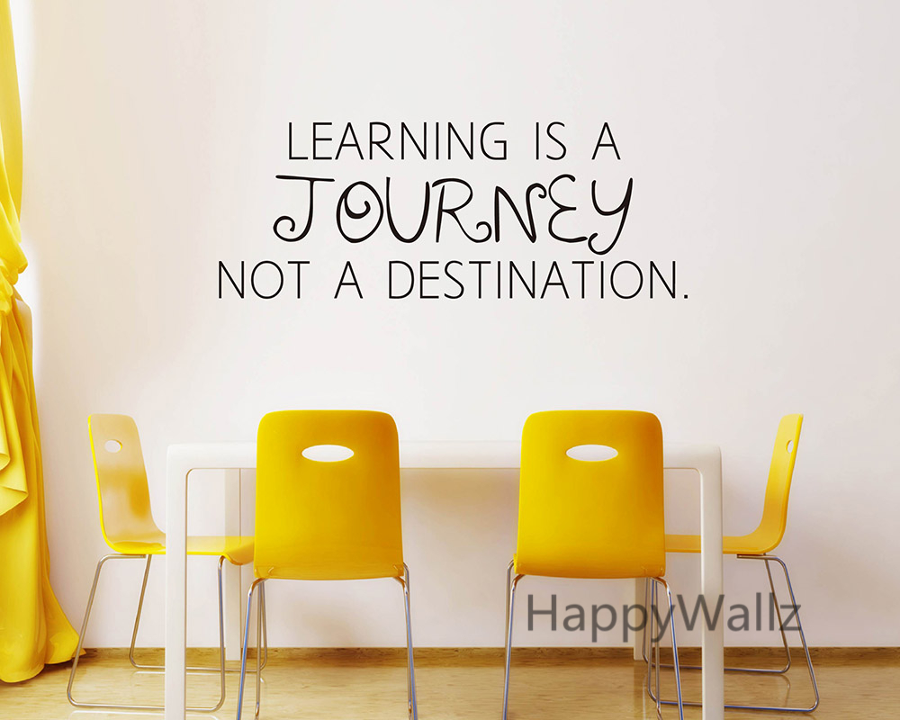 motivational quote wall sticker learning is a journey not office wall decor quotes interior amp exterior doors