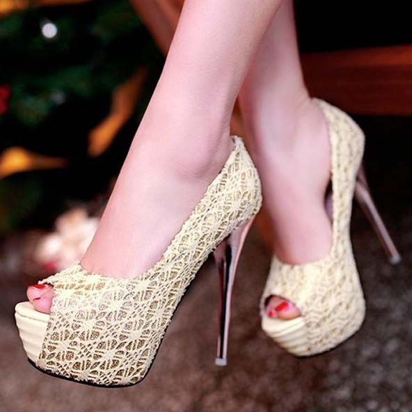 New Fashion Women Peep Toes Sexy Platform High Heels Wedding Shoes For Women Ladies Plus Size Evning Dress Pumps Big Size 34-43<br><br>Aliexpress