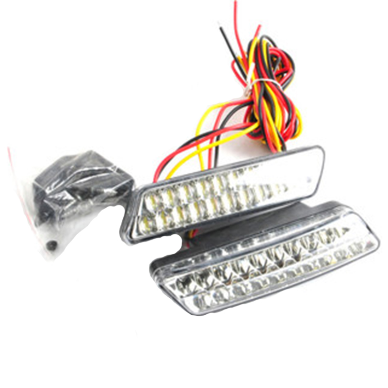 bright white 2x20 led front fog drl daytime running driving lights fog. Black Bedroom Furniture Sets. Home Design Ideas