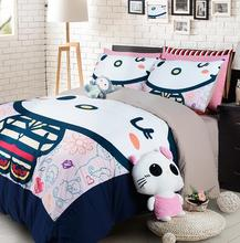 3/4pcs Hello kitty bedding set for girls home textiles bedclothes duvet cover bed sheet pillowcase sets EMS/UPS/FedEx/TNT(China (Mainland))