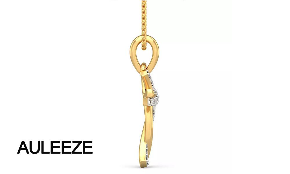 HTB1JAe0LpXXXXaGapXXq6xXFXXXQ - Classic Style Humanoid Cross Pendants 14K Yellow Gold Natural Real Diamond Jewelry Necklace Pendants Engagement Wedding Jewelry