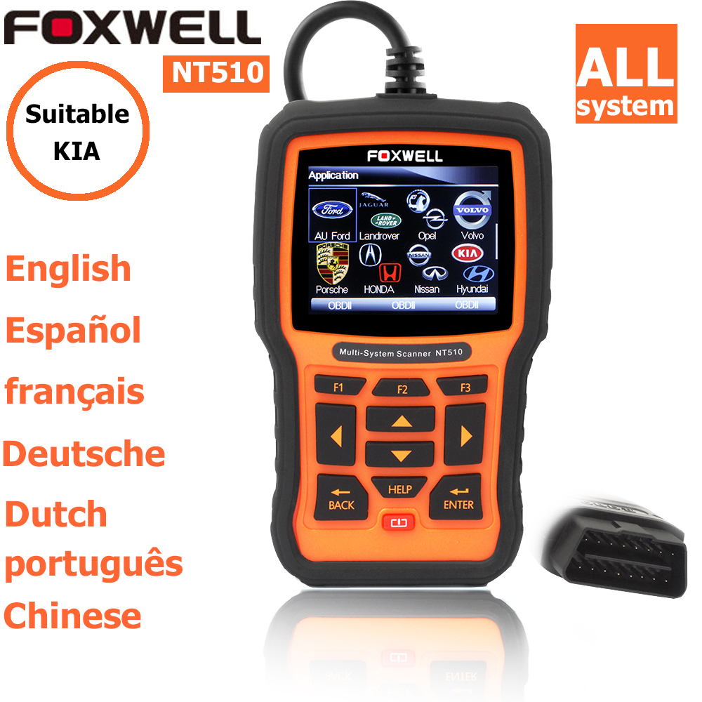 foxwell nt 510 for KIA obdii EOBD CAN Engine Analyzer Auto diagnostic scanner obd code readers scan tools obd2 scann(China (Mainland))