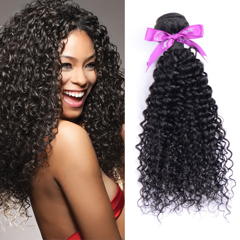 Peruvian jerry curl hair weave natural black 3pcs lot free shipping kinky baby curly bohemian virgin hair estensions cab be dyed(China (Mainland))