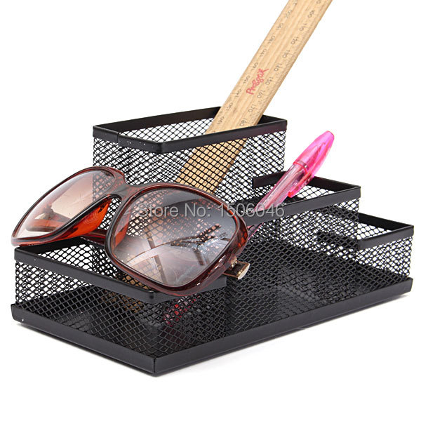 Mesh Cube Metal Stand Combination Holder Desk Desktop Accessories Stationery Organizer Pen Pencil Office Supplies Study Storage(China (Mainland))