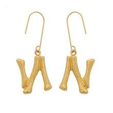 Metall Initial Brief Ohrringe Für Frauen Gold Farbe Ohrringe Mode Schmuck Große Vintage Tropfen Ohrringe Weibliche Böhmischen Brincos(China)