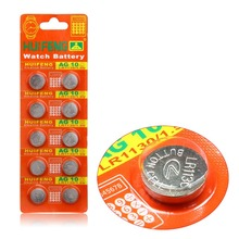 10pcs/Lot= 1pack ,AG10 LR1130 389 LR54 SR54 SR1130W 189 L1130 Button Cell lithium Battery ,Watch Coin Battery, Free Shipping