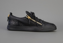 Unisex men shoes for women GENUINE LEATHER good quality Crocodile pattern black shoes EU 35-47
