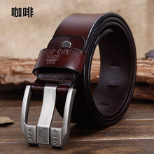 AFS JEEP100%Genuine Leather belts for men High quality metal pin buckle Strap male Jeans cowboy