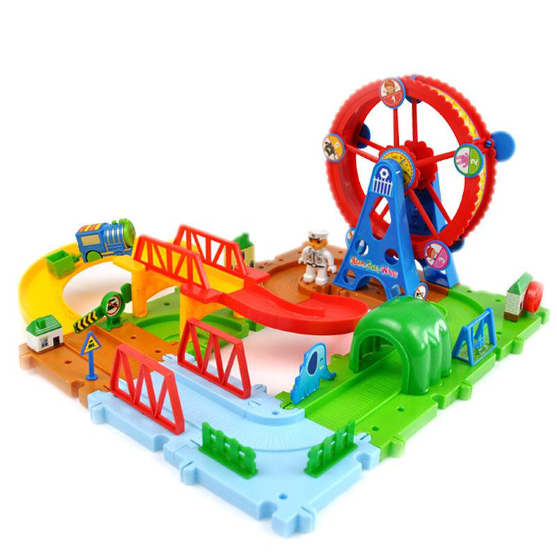 Diecasts Toy Vehicles Kids Toys train Toy Model Cars electric puzzle Building slot track Rail transit electric(China (Mainland))