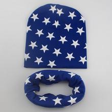 1 Unidades Otoño Crochet el Sombrero Del Bebé, Niña, Niño Tapa de Invierno Bufanda de Algodón Estrella de la Gorrita Tejida Infantil punto niños Niños Nueva(China (Mainland))