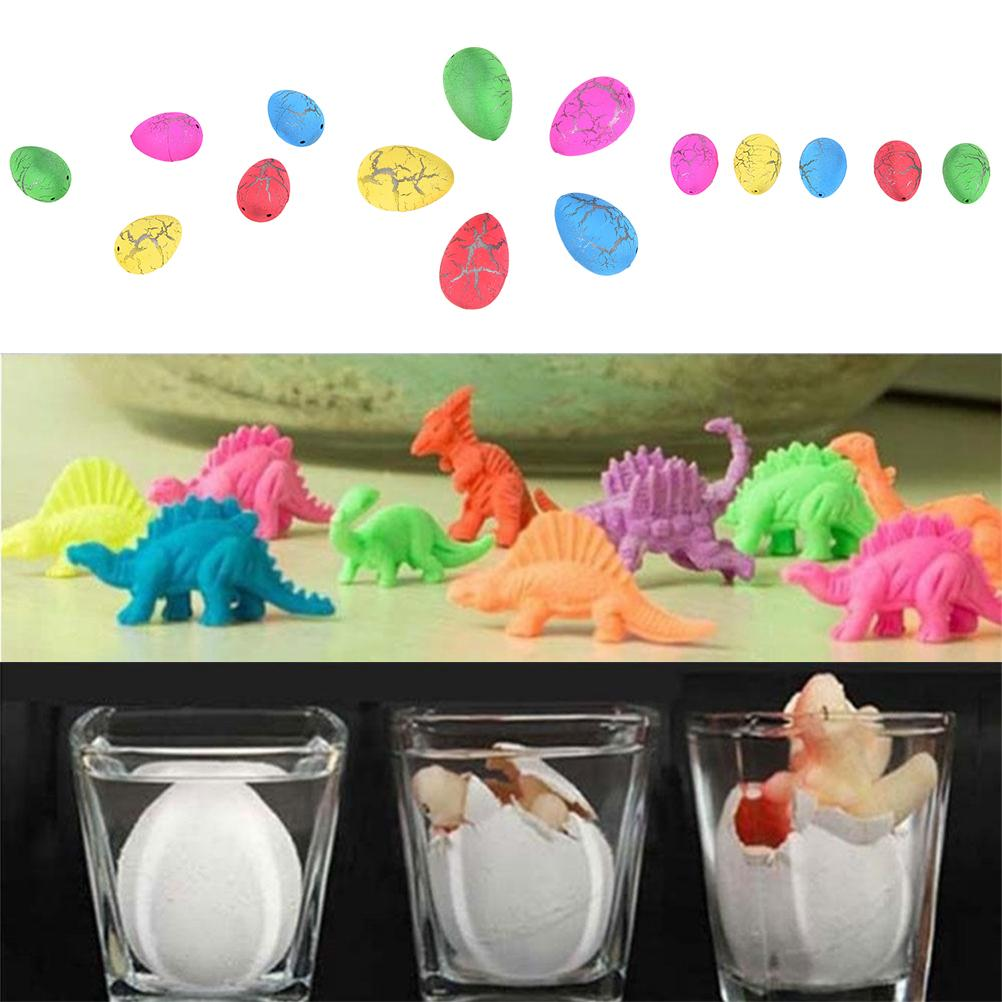 1Pc Cute Magic Water Growing Egg Hatching Colorful Dinosaur Add Crack Grow Egg Children Kids Toys Color Random