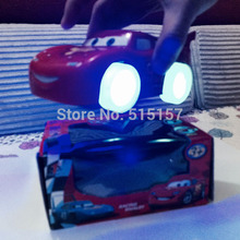 New 2015 cars 2 pixar musical toys electric car with Glowing Flashing Automatic Steering kids toys Birthday Chirstmas Gift(China (Mainland))