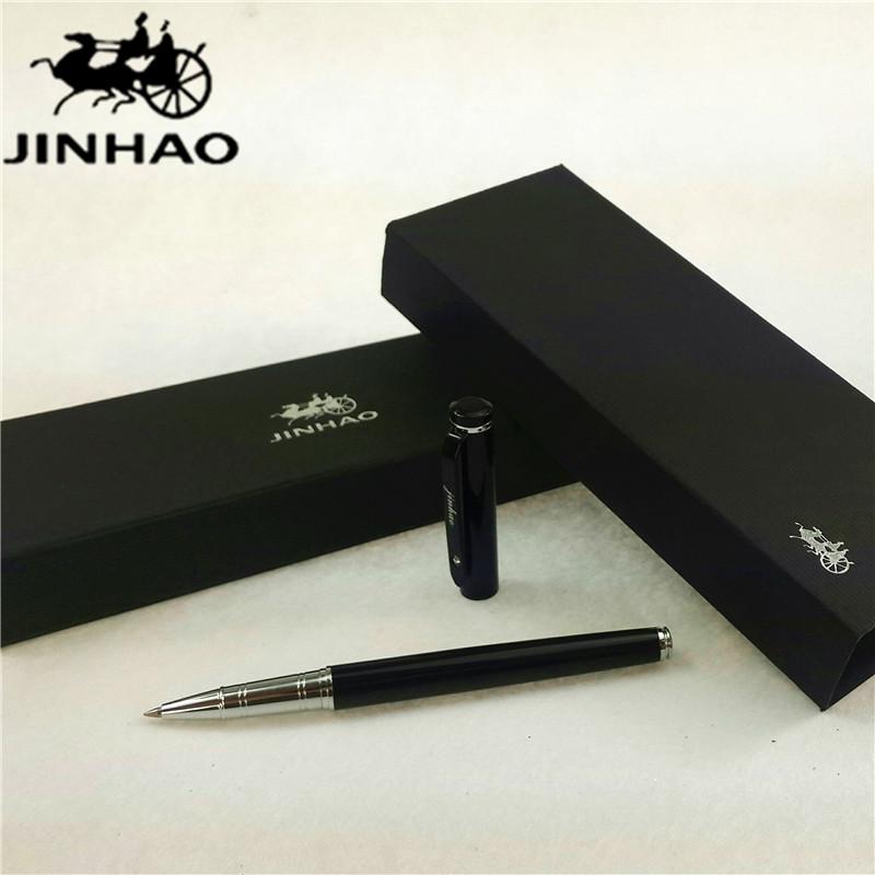 1pcs/lot JINHAO 101 Roller Ball Pen 2 Colors Matte Black/Black Pen Silver Clip With Rhineston Canetas School Supplies 13.6*1.2cm(China (Mainland))
