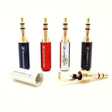 New DIY 3.5 mm Audio jack connector Adapter gold-plated headphone plug Laser light carving Stereo headset rca dual