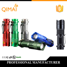 High-quality Mini LED Flashlight CREE Q5 2000LM Waterproof LED Laterna 3 Modes Zoomable PortableTorch penlight AA 14500(China (Mainland))