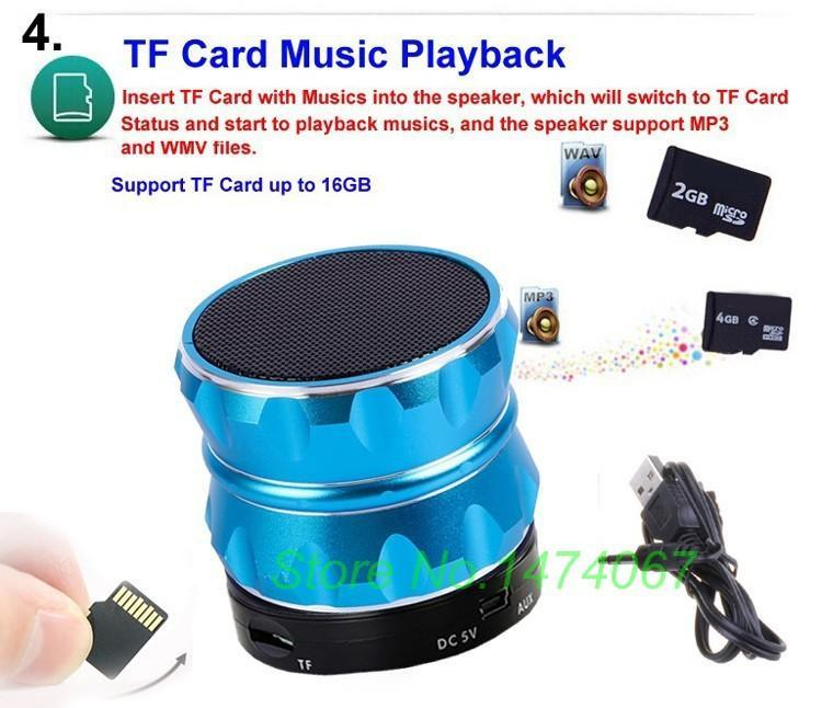 2015 Wireless Bluetooth Boombox Mini Speaker With Microphone FM Radio MP3 Player Aluminum Speaker For Samsung iPhone pc S14(China (Mainland))