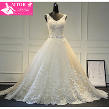 Buy New Design A-Line Lace Wedding Dresses 2017 V-Neck Beaded Sash Backless Sexy Vintage Wedding Gowns China Online Shop MTOB1729 for $348.00 in AliExpress store