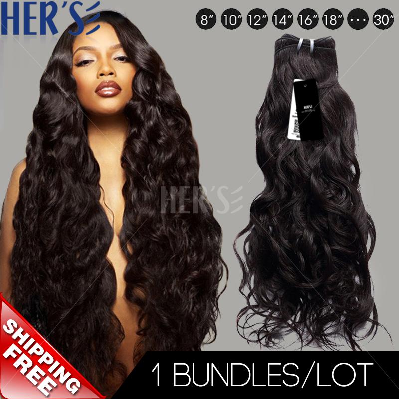 Гаджет  TRUE Indian Hair Weave Natural Wave Hair Extension Bundles,TOP Grade Unprocessed Virgin Indian Hair,100% Indian Human Hair Weft None Волосы и аксессуары