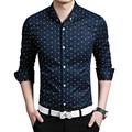 2016 Top Quality Men s Shirts Men Cotton Slim Fit Shirt Fashion Casual Long Sleeve Plaid