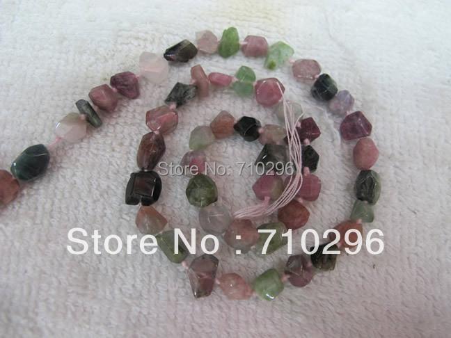 Natural Tourmaline semi precious gemstone loose beads 5x8 mm facted nugget beads 15.5