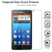 Tempered Glass Screen Protector for Lenovo S660 2.5D Ultra Thin 9H anti-scratch Premium Film for Lenovo S668t free shipping