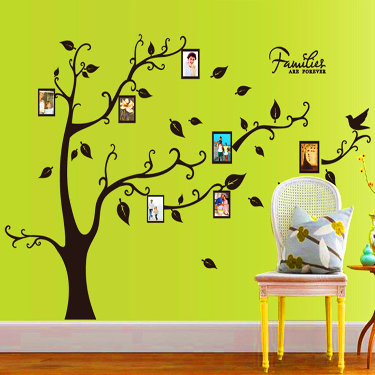 Ay9063a noir section de tronc d 39 arbre droite photo arbre stickers muraux - Maison en tronc d arbre ...