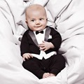Tuxedo Baby Boys Rompers 2016 Spring Autumn New Arrival Baby Boy Rompers Set Cotton Blends Newborn