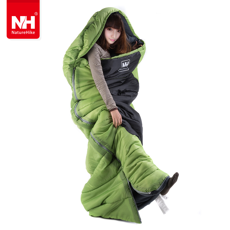 NH00F400-D Outdoor Envelope cotton sleeping bags Adult outdoor heat preservation winter camping single sleeping bag<br><br>Aliexpress