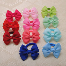 Buy 2 Pcs/lot High Ribbon Bows Hair Gum Hair Accessories Headwear Hair Bows Girl Rubber Band Elastic Bands for $1.24 in AliExpress store