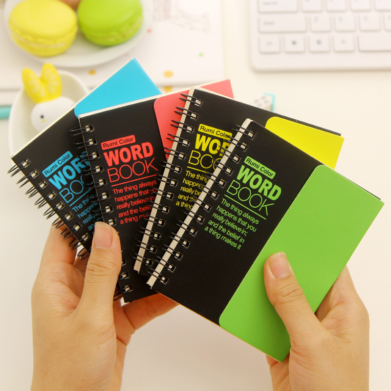 Cute Fluorescent Recite Words learning Foreign Language Vocabulary Notebook Planner Student Stationery School Supplies(China (Mainland))