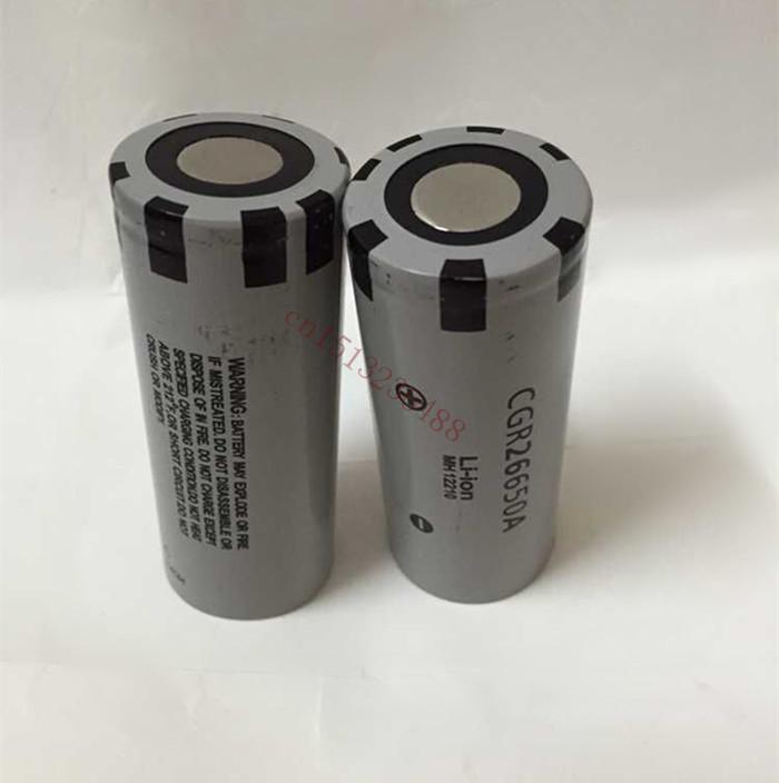2PCS/LOT New for Panasonic Original 26650 CGR26650A 3.7V 2650mAh Li-ion Rechargeable Battery Free Shipping(China (Mainland))