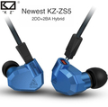 Newest in Stock 2017 KZ ZS5 Earphone In Ear Quad Driver High Fidelity Extra Bass Earphones