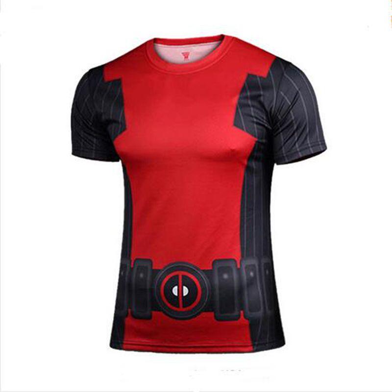 Mens t shirts fashion 2016 superhero batman avengers captain America men T-shirt on armor under short sleeve T-shirt(China (Mainland))