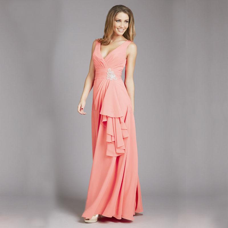2015 платья Bridemaid шифон длиной до пола без бретелек аппликации-линии пояса оборками Bridemaid свадебное платье vestido де феста