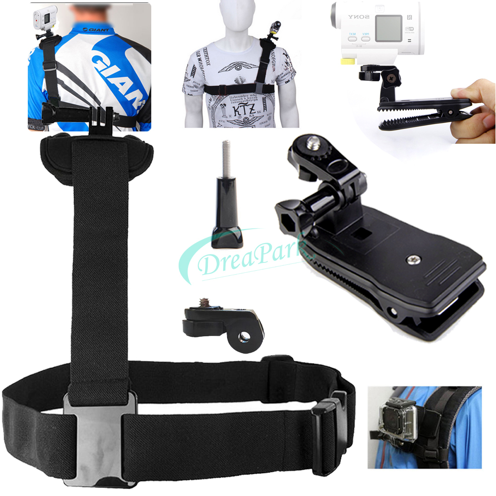 Camera Sony Action Cam Accessories aliexpress com buy dreapark for action sports camerafor gopro sony cam accessories kit shoulder strap360 rotating c