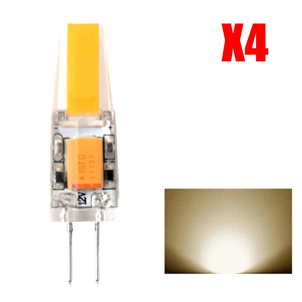 4 Pcs/lot G4 Crystal Bulbs Silicone LED Lamp 12V AC/DC 2W COB SMD cool/ Warm White Lights(China (Mainland))