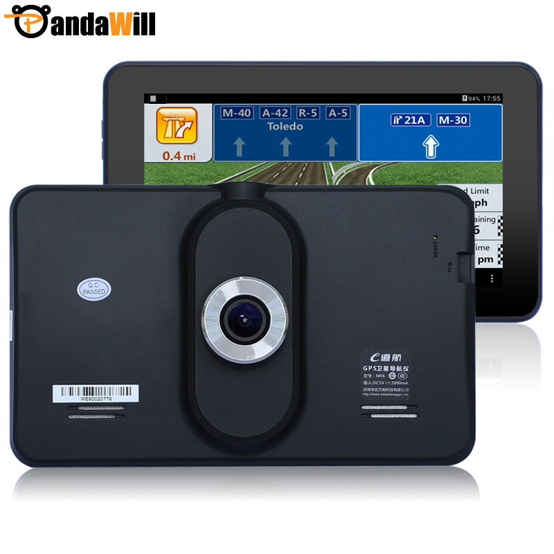 "New 7"" Android 4.4 Car DVRS Recorder Camera FHD WIFI Tablet PC Car gps navigation navigator 8GB Europe /Navitel map Vehicle gps(China (Mainland))"