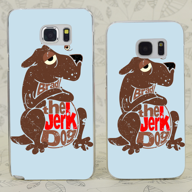 C2982 Brad The Jerk Dog Transparent Hard PC Case Cover For Samsung Galaxy S 3 4 5 6 7 Mini Edge Plus Note 3 4 5 7(China (Mainland))