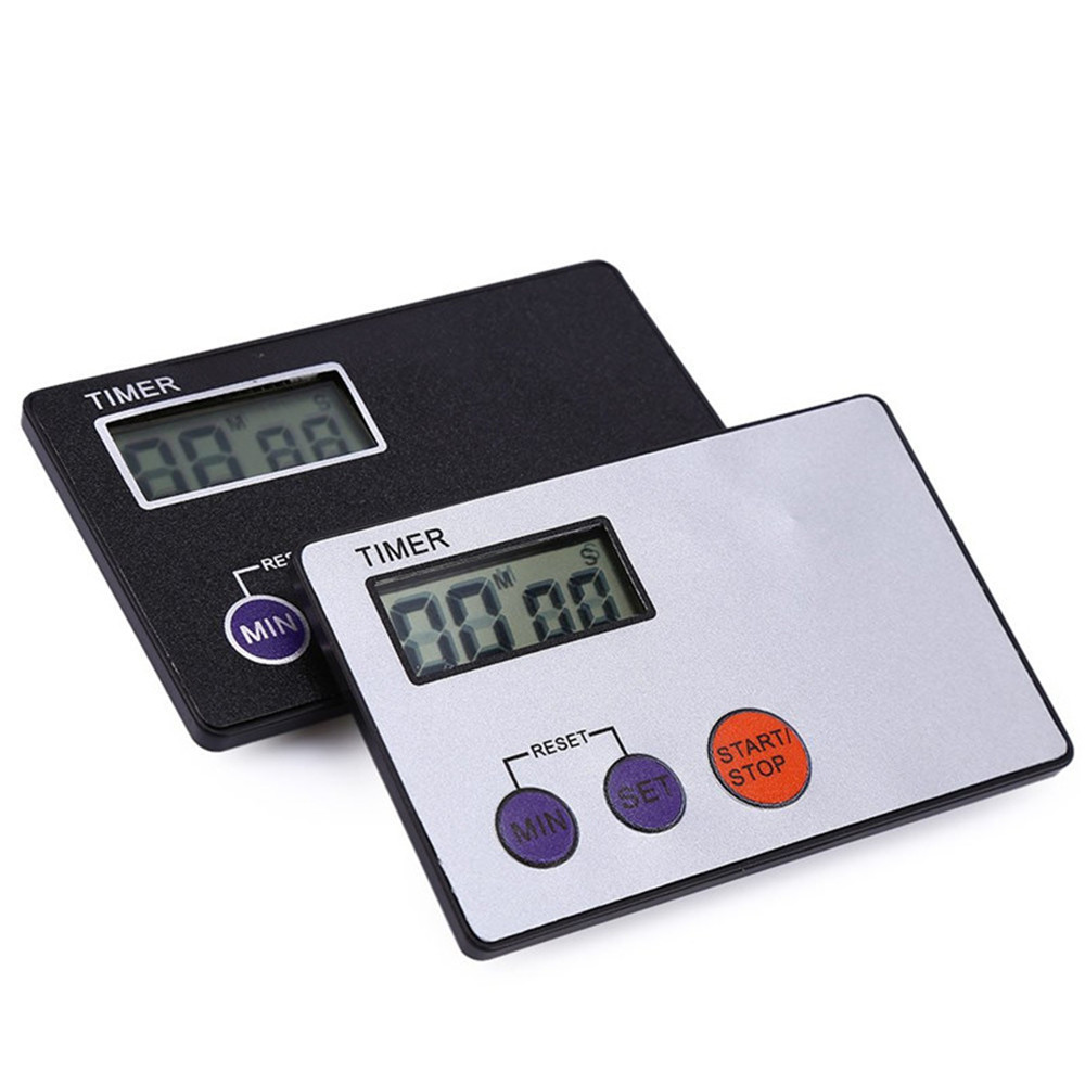 BK-335 Ultra-thin Digital Timer Plastic Countdown Clock for Kitchen Study Rest Cooking 0-99 Minutes 59 Seconds Timer White Black(China (Mainland))
