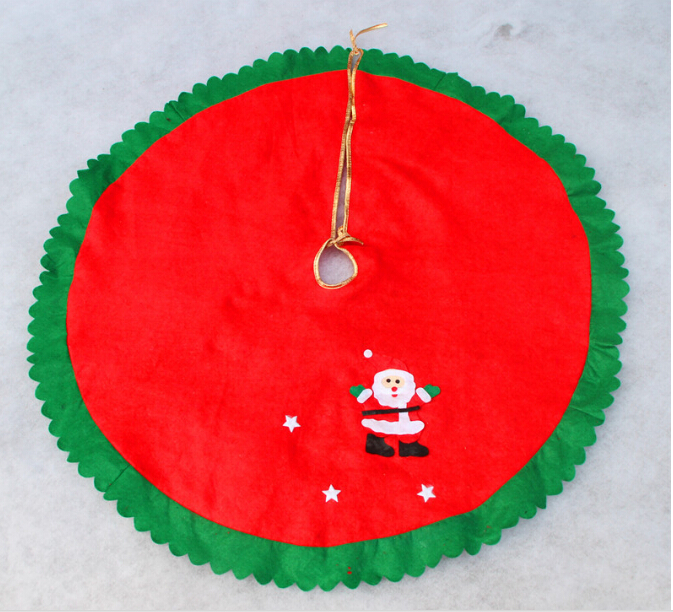 100% 1Pc 90cm Santa Claus Tree Skirt Christmas supplies & christmas decorations - Fashion Leather Clothes center store