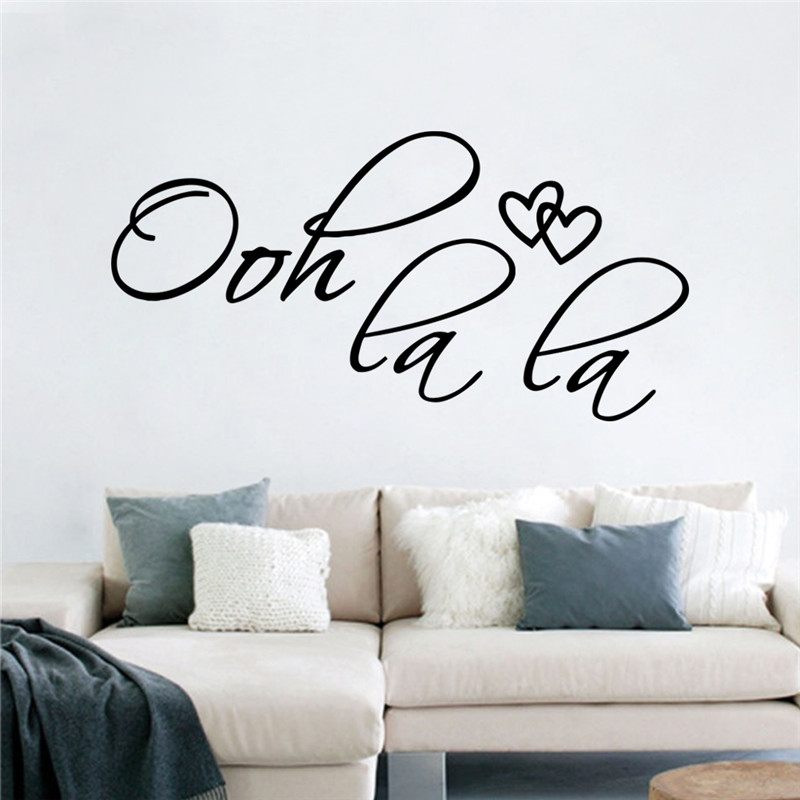 Modern family Loverly wall stickers Creative for kids room oh la la 8418 living room bedroom coffee shop table decoration(China (Mainland))