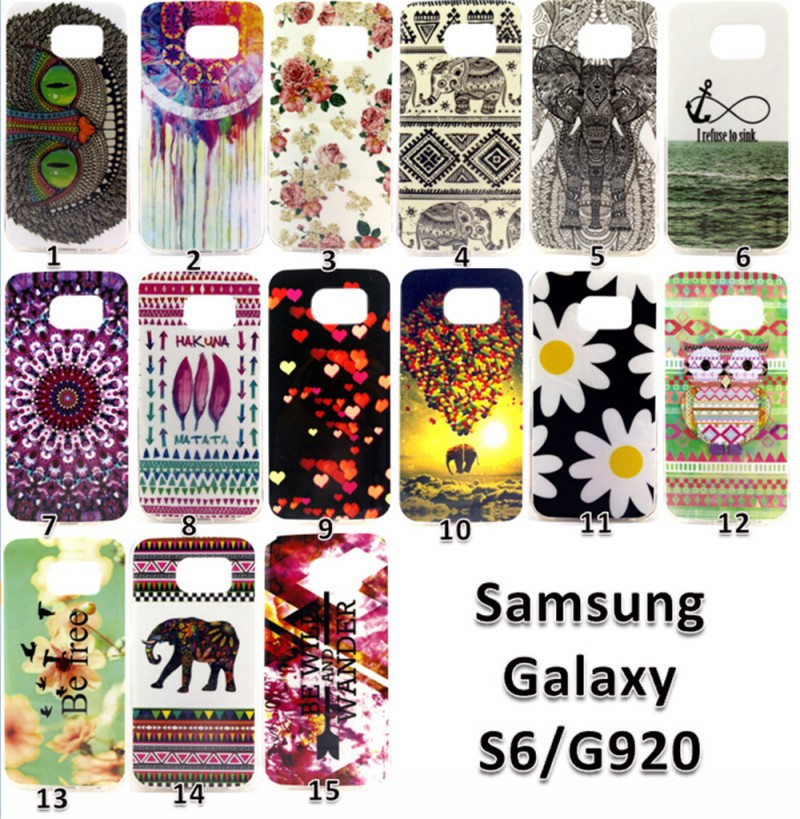 10 New Cute Colorful Painted Soft TPU IMD Silicon Cover Case Samsung Galaxy S6 G920 G9200 G9208 g9209 - Made In China Centre store
