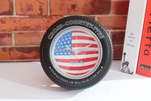 2014 NEW!American style USA flag tire 3D wall clock,fashion creative alarm clock modern design,home decorative desktop clock(China (Mainland))