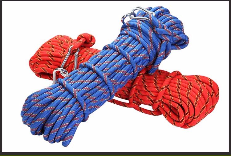 10mm*20m outdoor climbing gear ropes climbing rope climbing downhill safety rope climbing rope auxiliary outdoor camping protect<br><br>Aliexpress