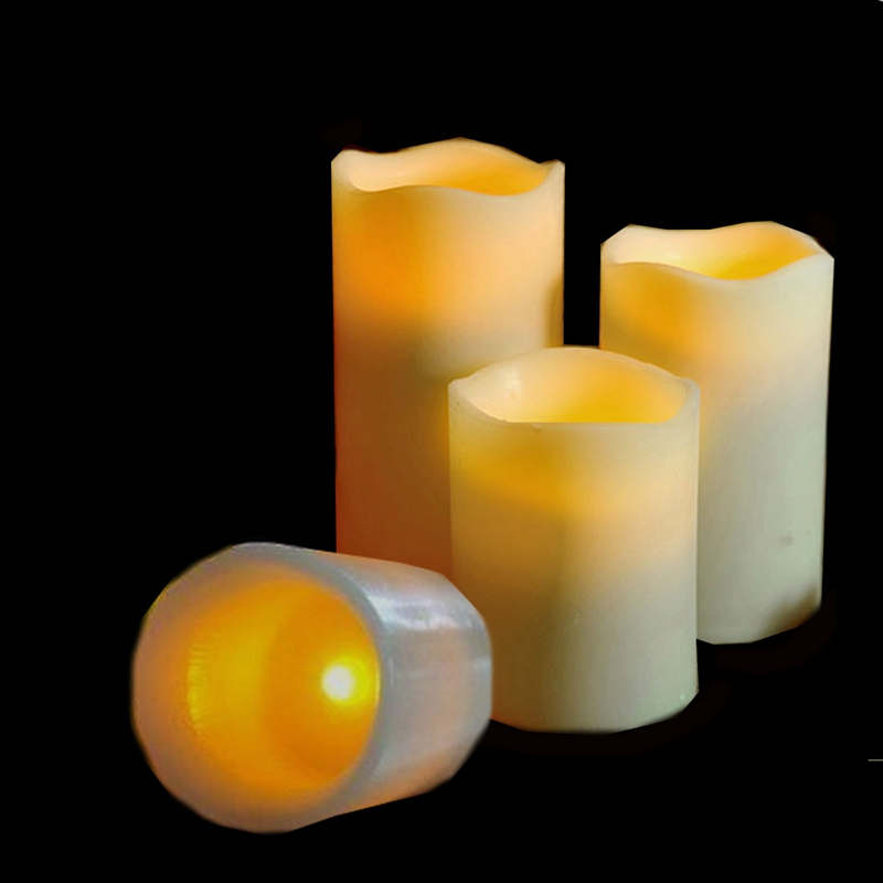 Flickering Flameless Pillar LED Tealight Candles Night Lights Lamp Battery Operated For Home Wedding Party Decor(China (Mainland))